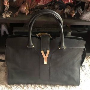 YSL Authentic Large Cabas Leather Bag